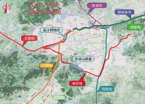 南宁铁路枢纽,牵引6条高铁进南宁图片