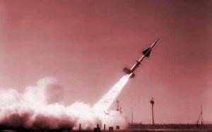 萨雷沙甘靶场上的反导弹导弹试验。