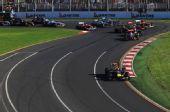 组图:F1揭幕战维特尔夺冠 开心捧盘显王者风范