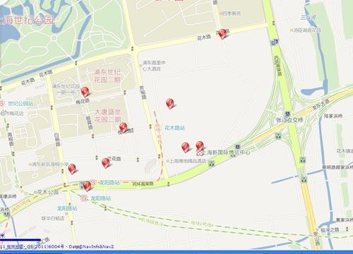 上海新国际博览中心停车场示意图
