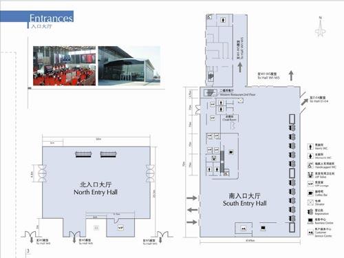上海新国际博览中心-展馆入口示意图