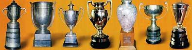 从左至右分别为斯韦思林杯、考比伦杯、圣-勃莱德杯盖斯特杯、伊朗杯、波谱杯和赫杜塞克杯