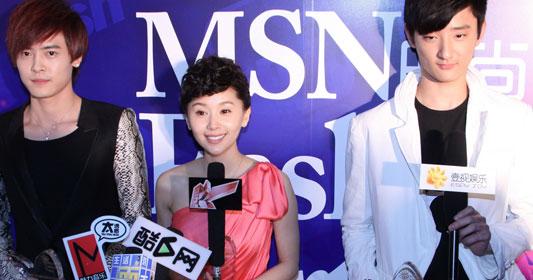 王子文接受媒体采访