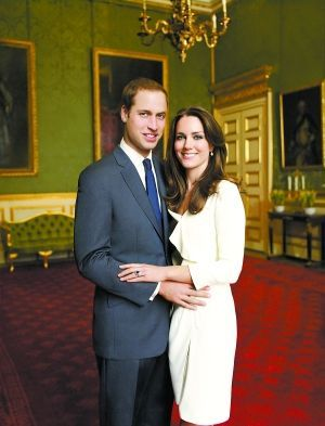 英国威廉王子与未婚妻凯特-米德尔顿(资料图)