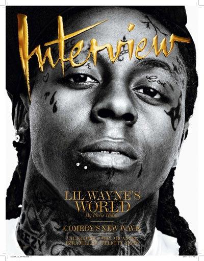Lil'-Wayne登《Interview》封面