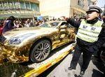 南京黄金跑车被拖走
