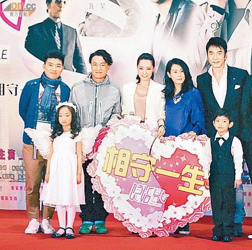 陈奕迅(左二起)、白冰及刘若英合作拍戏,令人期待。