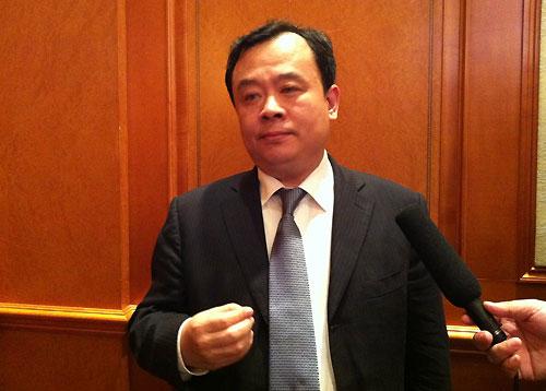 中国贸促会汽车行业分会会长王侠接受采访