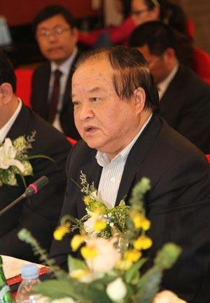 中国机械工业联合会副会长张小虞发言