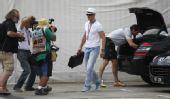 组图:F1众车手尽显潮人装扮 舒马赫戴礼帽亮相