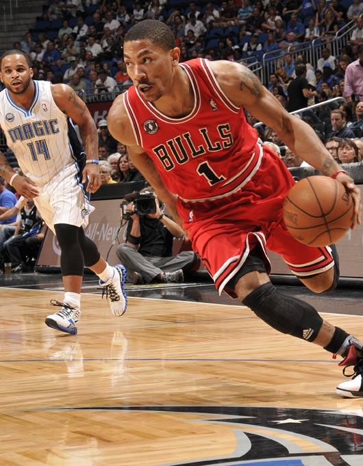 罗斯/图文:[NBA]公牛擒魔术 罗斯气势汹汹