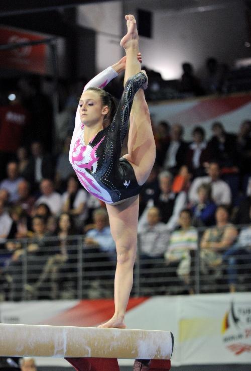 (体育)体操(2)——欧锦赛:俄罗斯选手获得女子平衡木冠军