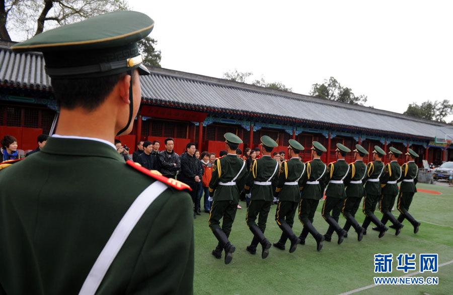 图片故事:国旗护卫队的一天