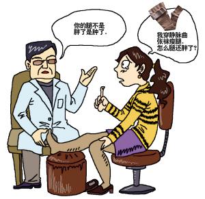 医生说不是长胖了而是受压变水肿  制图 郭娟