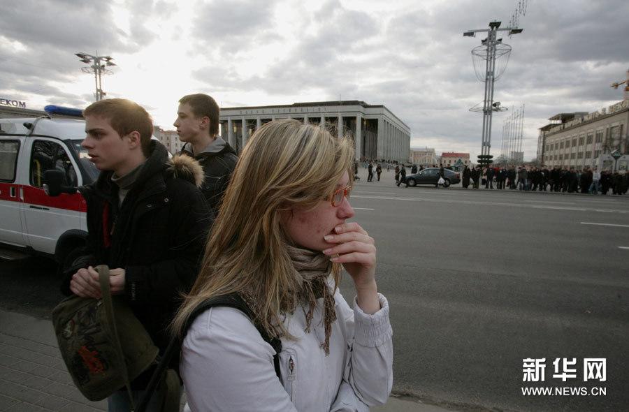 高清组图:白俄罗斯首都明斯克地铁发生爆炸