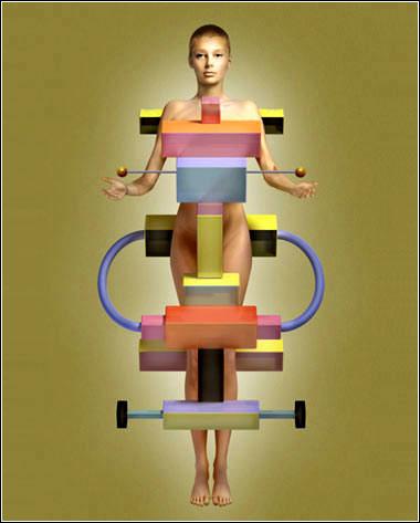 裸体艺术囹�a�.�_奇妙的几何人体艺术[组图]