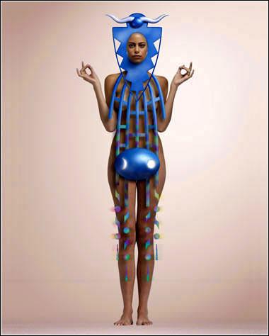 人体艺木图片欣赏_奇妙的几何人体艺术[组图]