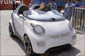 纯电驱动 smart Forspeed概念车准备进馆