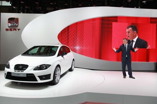 西雅特执行委员会主席James Muir宣布西雅特品牌正式进入中国市场