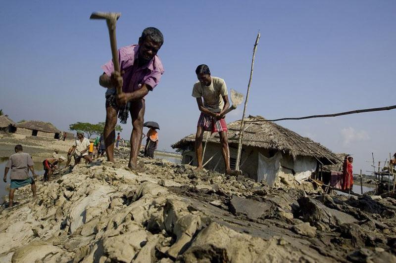 萨德吉 德尔 孟加拉/在孟加拉萨德吉拉地区靠近孙德尔本斯丛林的嘎布拉,12岁的女孩...