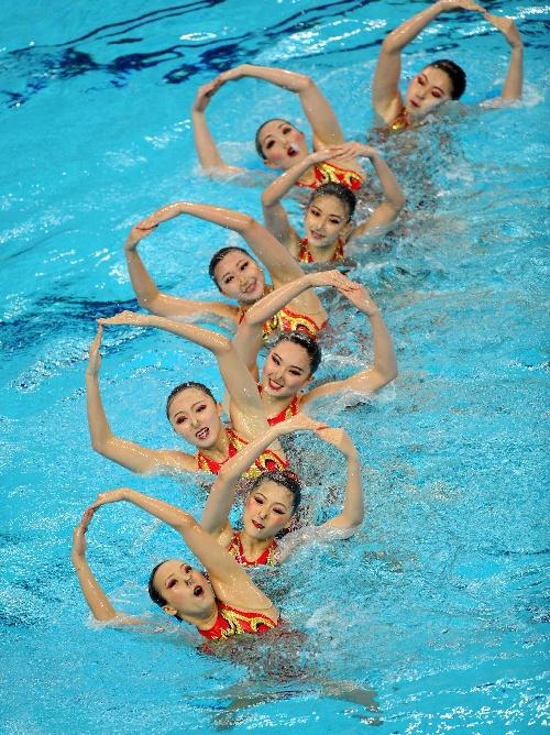 花样游泳中国公开赛 美女出水芙蓉 福 建