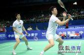 图文:[亚锦赛]蔡赟/傅海峰2-0晋级 小心回球