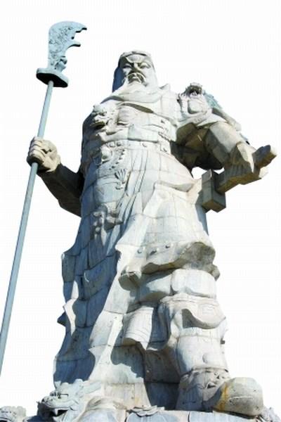 关羽石雕塑像