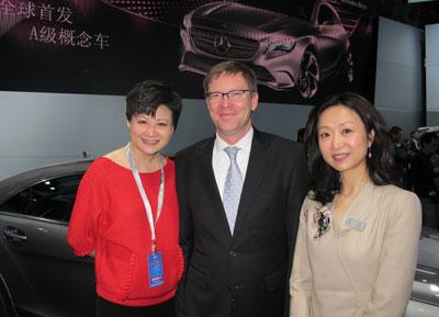 梅赛德斯-奔驰的当家人麦尔斯先生也是李辉的粉丝,当然粉丝中还有公关副总裁王燕