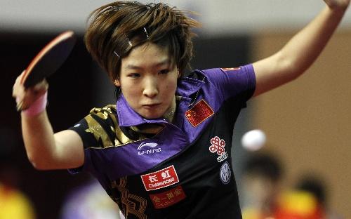 刘诗雯在决赛中