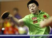 图文:世乒赛热身赛男单决赛 马龙在决赛中