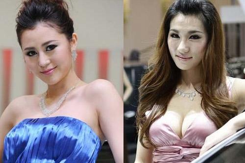 黄莹左和蓝淼淼右图片来源:搜狐-女车模打起来了 追踪 或索要六万块图片