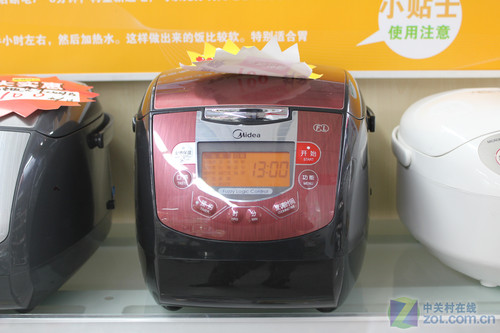 美的FZ507B电饭煲   此款美的FZ507B电饭煲采用红色的外...