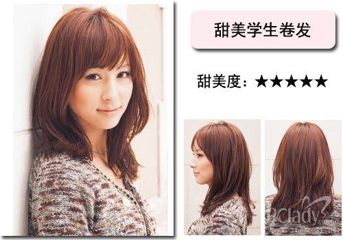 走甜美风的日系发型是学生们的最爱,而清新的荷叶头则是能体现学生图片