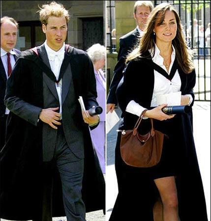 威廉王子和未婚妻瑟琳-米德尔顿结束学业