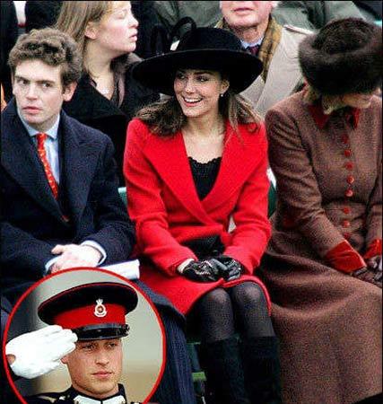 凯特出现在威廉的军事学院毕业典礼上