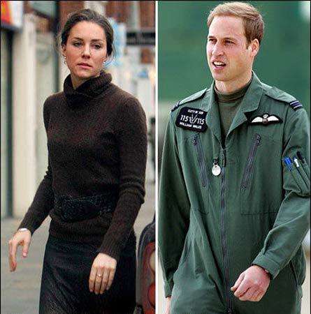 威廉王子和未婚妻瑟琳-米德尔顿闹分手