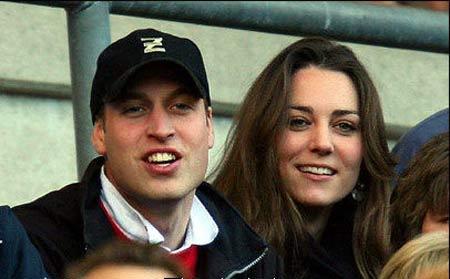 威廉王子和未婚妻瑟琳-米德尔顿