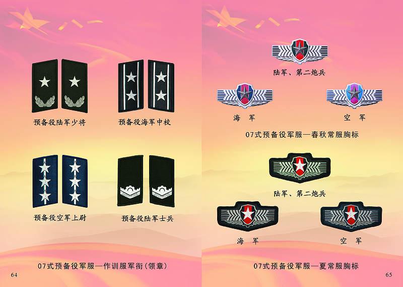 搜狐资讯_媒体新闻滚动_搜狐资讯    07式预备役军服的标志服饰由胸标,臂章,姓
