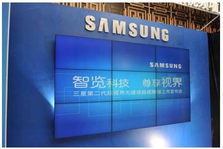 内置的LCD面板由三星公司生产,图像改变频率为100hz。_三星第二代超视界无缝液晶视频墙ud55a广州发布会召开