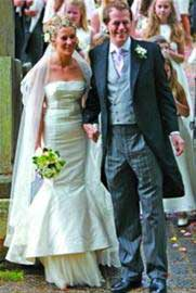 伯顿为卡米拉儿媳设计的婚纱