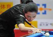 图文:9球北京赛女子决赛 车侑蓝在比赛中