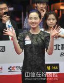 图文:9球北京赛女子决赛 车侑蓝微笑登场
