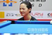 图文:9球北京赛女子决赛 车侑蓝激动不已