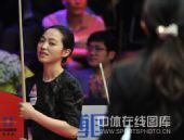 图文:9球北京赛女子决赛 车侑蓝面带笑容