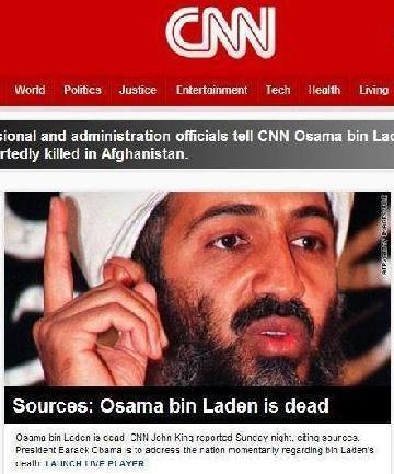 媒体报道拉登已死