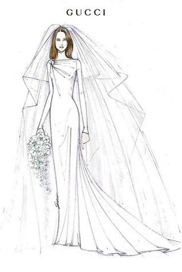 婚纱礼服手绘图片短裙