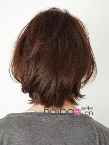发型圆圆让好感度大v发型!海报网日系短发发际轮廓线高适合什么扎发