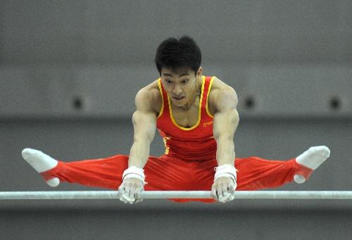 250分与辽宁选手郭伟阳并列获得冠军. 新华社记者杨磊摄