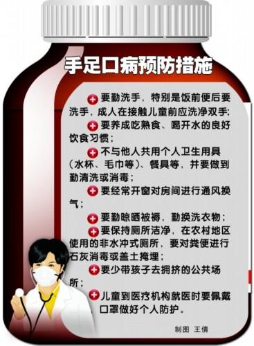 青岛上月新发手足口病315例 月底疫情可能会加重