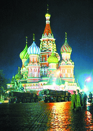 莫斯科红场阅兵彩排